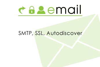 Email with SMTP, SSL, AUTODISCOVER and other news